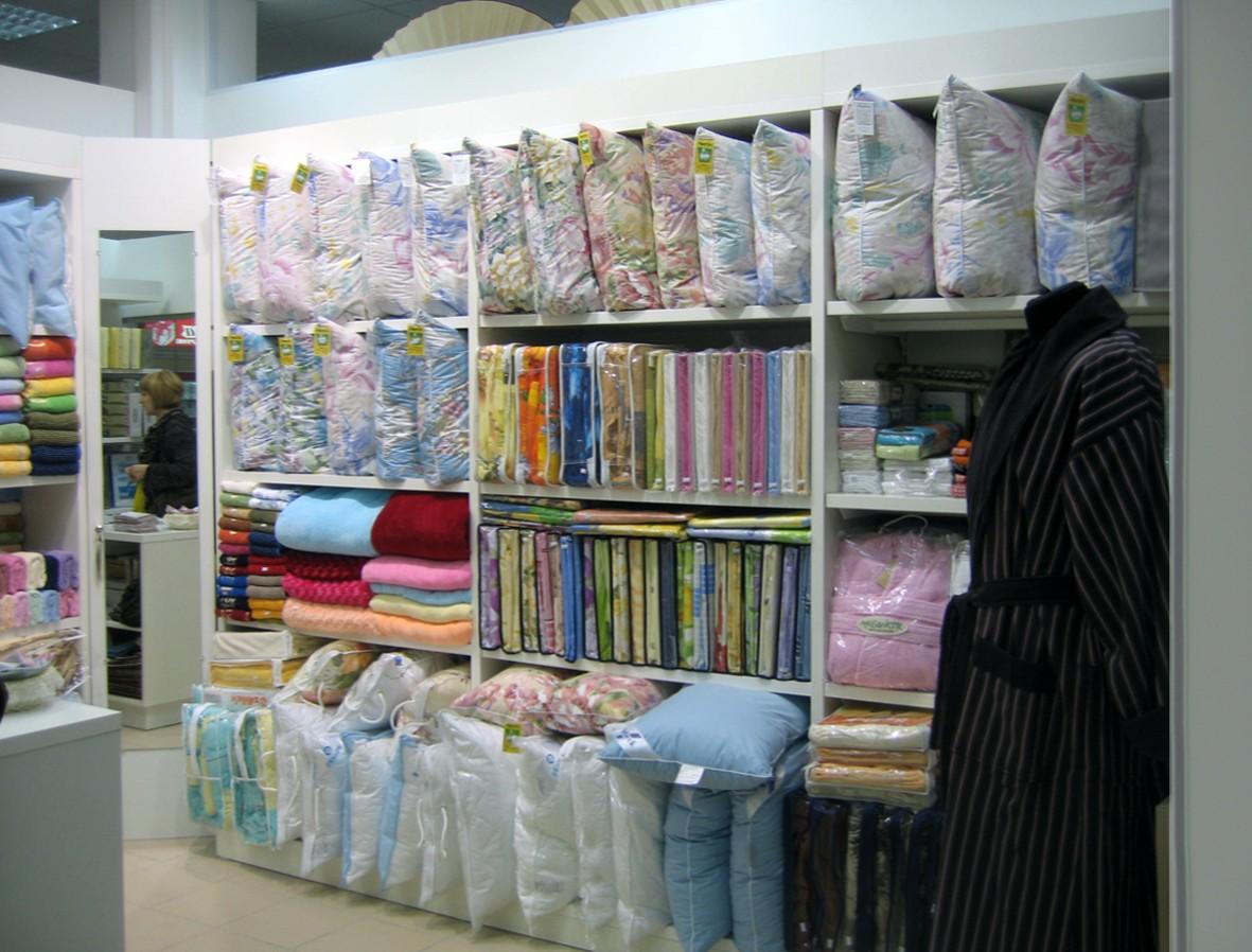 Торговое оборудование для магазинов тканей, постельного бель.